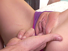 Kinky Blonde's Fucked Until Her Face's Covered By Cum