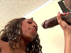 Ebony Hottie Rides A Thick Black Cock