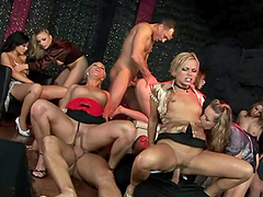 A Great Orgy With Sexy Ladies And Horny Guys At The Club