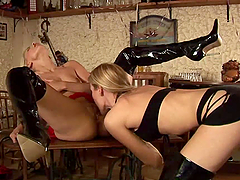 Dildo Fun With Kinky Lesbian Blondes
