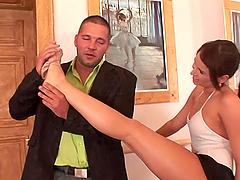 Horny Ballerina Is Fucked By A Big Cock