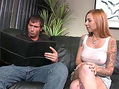 A Big Fat Dick For A Tattooed Redhead Bitch