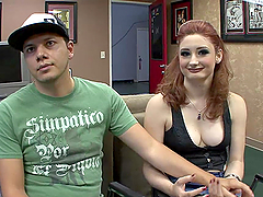 Kinky Redhead Rides A Big Cock As Her Boo Watchers