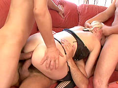A Breath Taking Double Penetration In A Gangbang