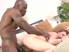 Redhead Teen Works Up Sweat Fucking A Black Cock