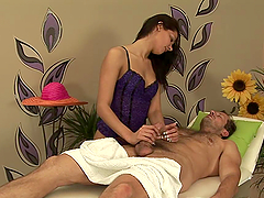 Hot Masseuse Rides Her Client's Big Hard Cock