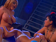A Lesbian Threesome Among Hot Babes