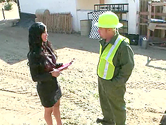 A Little Bondage Fun For The Hot Milf Jewels Jade With A Construction Freak