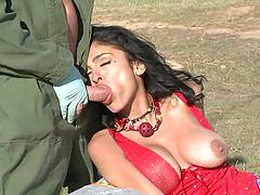 Outdoors Bondage Scene With The Kinky Milf Persia Pele