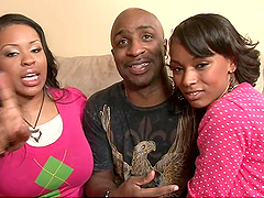A Rough Threesome With A Black Cock For Porcha Carrera And Her Friend