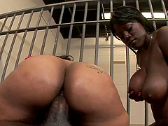 Big Booty Sluts Have A Threesome With A Big Dick Convict