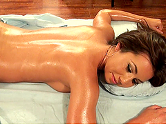 POV Fucking For Brunette Stephani Moretti's Throat and Pussy after Massage
