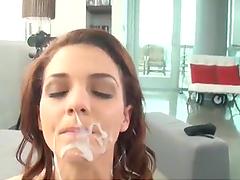 A Messy Facial For Kiera Winters In A POV Clip