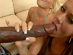 Black Cock Action For Two Slutty White Babes