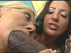 Slutty Ladies Have A Threesome With A Black Dick