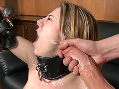 Hot Gangbang and Facials for Busty Blonde Amber Ashlee