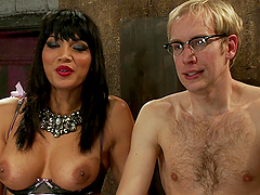Dominant Transsexual Gives a Blowjob Before Banging a Dude's Asshole