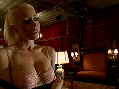 Kinky Lustful Blonde Girl Having a Blast Getting Fucked by Shemale