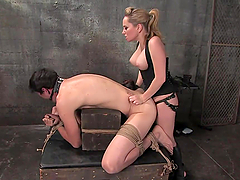 Pegging and 69 after Dick Torture in BDSM Femdom Vid