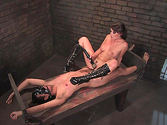 Bondage Fun With A Dominant Babe And An Unlucky Guy