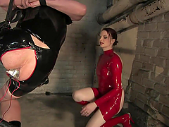 Redhead Mistress Tortures One Of Her Servants