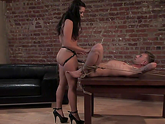 Bondage Fun With A Dominant And Irresistible Brunette
