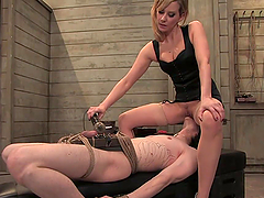 Bondage Fun With A Dominant Blonde Babe