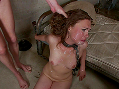 Rough Gangbang with DP and Face Fucking for Sexy Girl