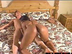 Awesome Blowjob and Hardcore Interracial Sex with Horny Ebony