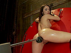 Pornstar Kristina Rose Gets Double Penetrated by Machines