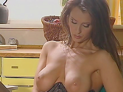 Kinky Brunette Plays With Herself In A Solo Clip