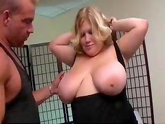 BBW Blondes Takes A Pounding From A Horny Muscular Guy