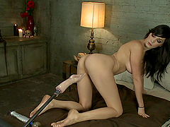 Fucking Machine Scene With The Hot Holly Michaels