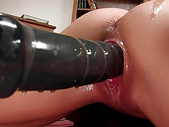 Busty Brunette Has An Amazing Time With Fucking Machines