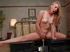 Horny Blonde Loves Cumming All Over Fucking Machines