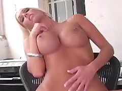 Sexy Blonde Shows You her Perfectly Round Breasts