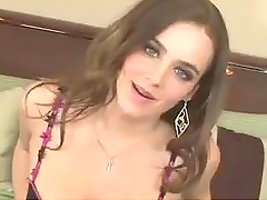Dildo Fun For A Sexy Brunette On Her Bed