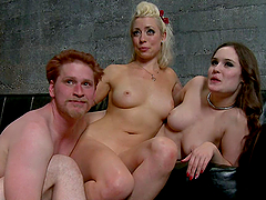 Bondage sex scene gets out of control