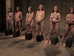 Submissve Ladies Please Their Masters In A Bondage Clip