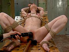 Pure Bondage Torture For A Sexy Brunette