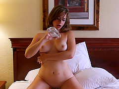 Busty Teen Gives Head After Oiling Her Big Tits