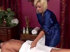 horny Masseuse Has A Lesbian Moment With Her Client