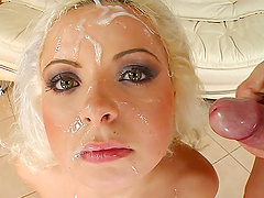 Euro Blonde Loves Sperm
