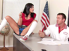 Smoking Hot Teen Brunette Fucked by Her Teacher