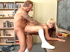 Teen Blonde with Big Tits Fucked by Her Teacher
