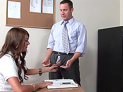 Brunette Schoolgirl Goes Hardcore in the Classroom