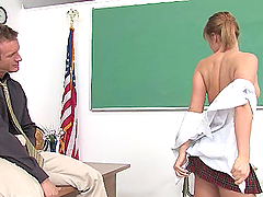 Pigtail Student Gets Slutty Without Her School Uniform