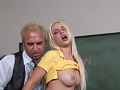 Blonde in Detention Getting Nailed for Being Naughty