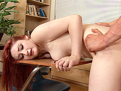 Sexy Redhead Gets Pounded By Her Teacher
