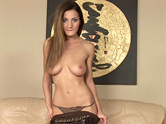 Horny Teen Brunette Masturbates With A Dildo